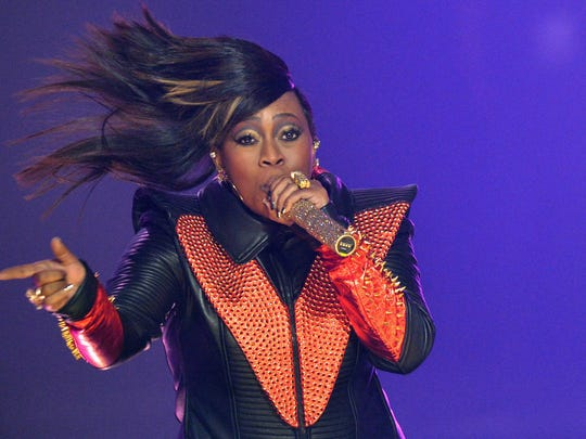 ATLANTA, GA - SEPTEMBER 29:  Missy Elliott performs onstage at the 2012 BET Hip Hop Awards at Boisfeuillet Jones Atlanta Civic Center on September 29, 2012 in Atlanta, Georgia.  (Photo by Rick Diamond/Getty Images for BET) ORG XMIT: 153096850 ORIG FILE ID: 153100884