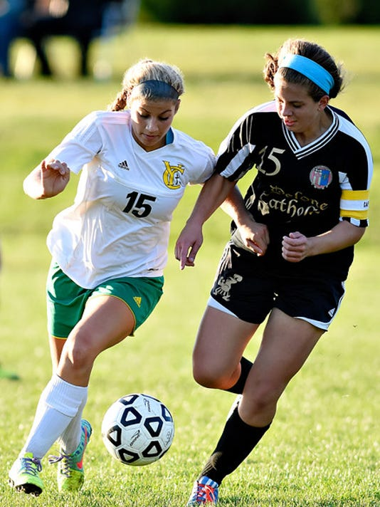 York Catholic vs Delone Catholic girls soccer 10/15/2015