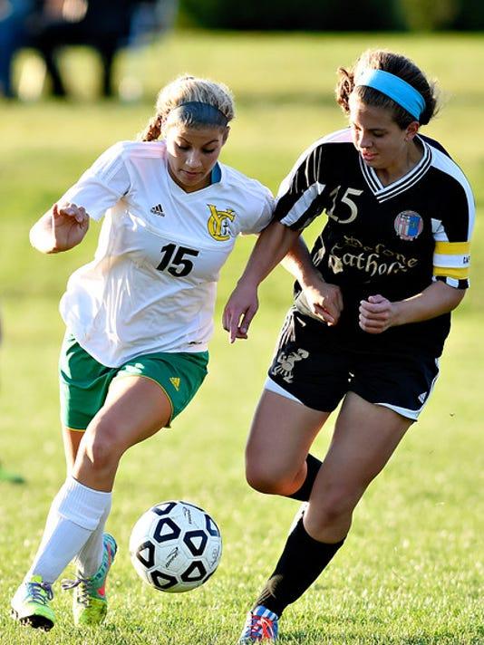 York Catholic vs Delone Catholic girls soccer 10/15/2015