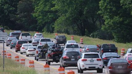 Beware of a traffic jam on U.S. Highway 167, the Pineville Expressway ,for southbound traffic.