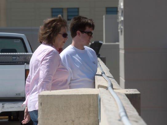 Joshua Wilhelm, left, and his Grandmother, Joan Crutchfield,