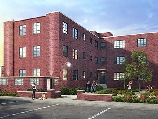 This artist rendering shows how the former Jones Court
