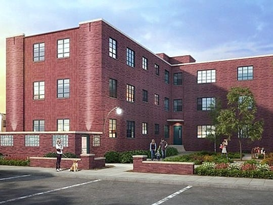 This artist rendering shows how the former Jones Court apartment complex in Elmira will look after it is renovated.