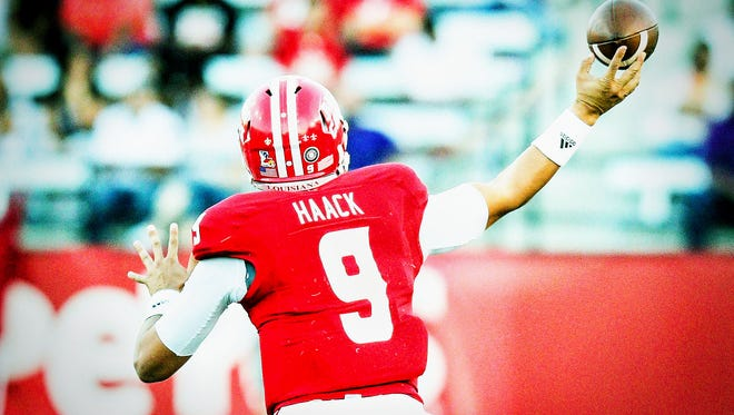 UL quarterback Brooks Haack like where the Cajuns are headed, even if there have been some worrisome moments.