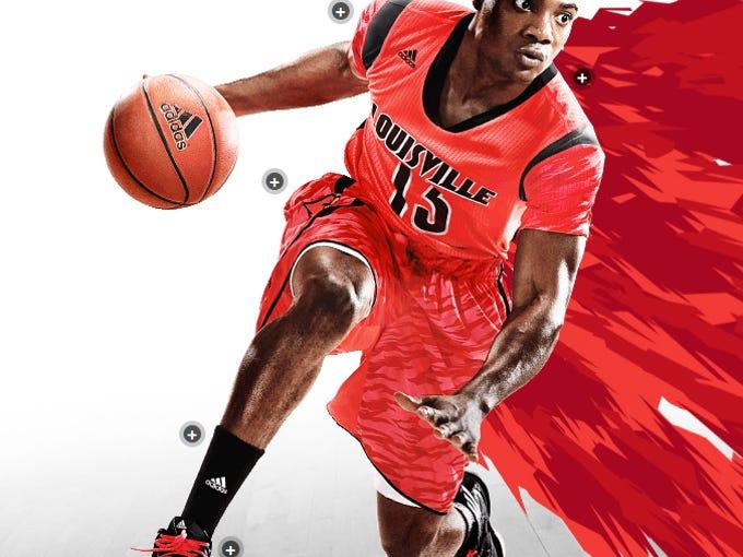 New post season basketball uniforms for the University of Louisville men's team.