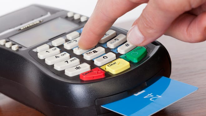 Using a chip and pin card is different than a swipe card: It stays in the processor until the transaction is complete.