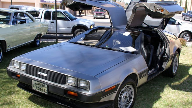 The DeLorean brought back memories of Marty McFly and the flux capacitor.