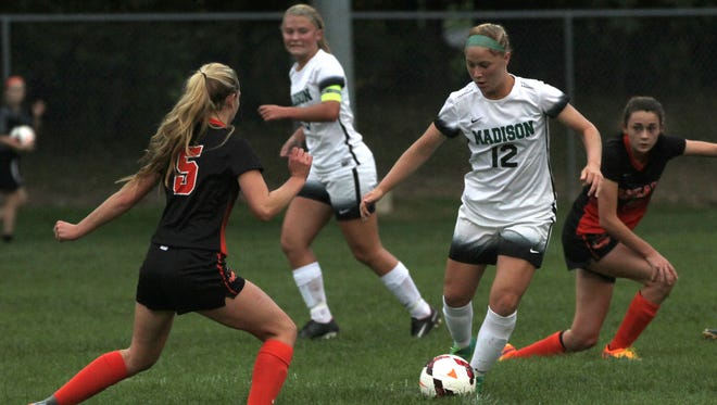 The Madison girls soccer team moved up two spots in the latest state poll after defeating Ashland 3-0 last week.