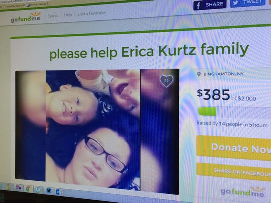 A Gofundme page, at gofundme.com/g46hwqps, has been set up for the family of Erica Kurtz, shown with her sons, Michael and Joshua.