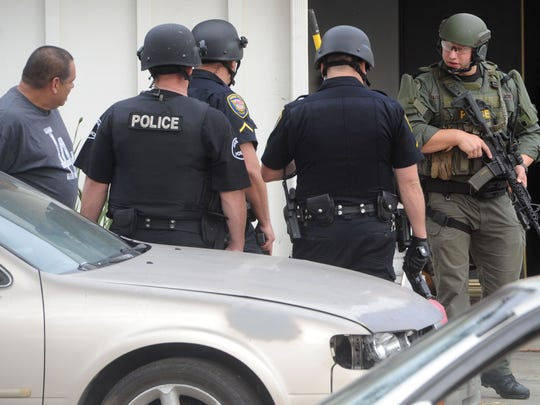 JUAN CARLO/THE STAROxnard Police Department makes some arrest in a drug bust in the Marina West Neighborhood in Oxnard. They received a lot of complaints about this house from the neighborhood. Police said it brings a lot of shady people around. 08/26/16 Oxnard, Ca