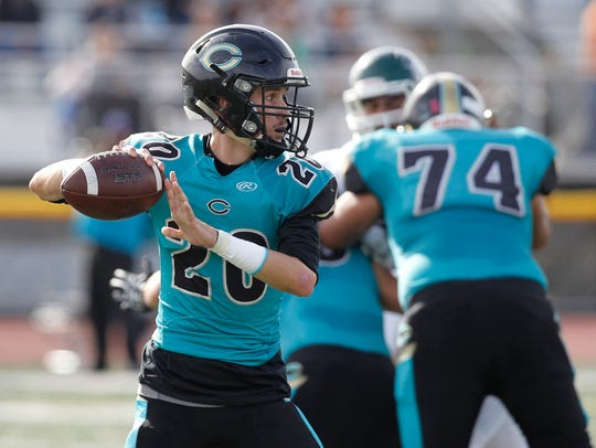 Christopher's Ben Sanford leads all Pacific Coast Athletic Leagues Divisions in passing yards (1.401) and touchdowns (12). He and the Cougars' offense will provide the toughest test for Salinas' pass defense since early September.