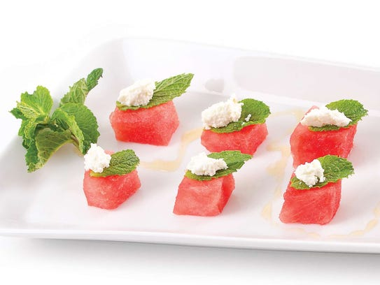 Watermelon and Goat Cheese