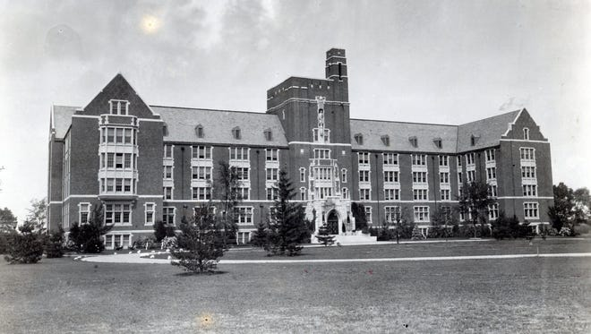 The former Sisters of St. Joseph Motherhouse (now the Golisano Academic Center) on the grounds of Nazareth College is seen in this circa 1930 photo.
