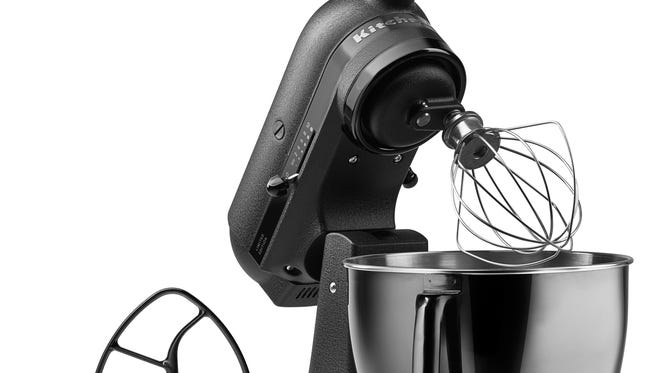 The 5-quart Black Tie Artisan Limited Edition Stand Mixer from KitchenAid.