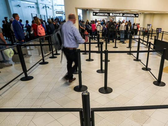 Checkpoint lines at Southwest Florida International Airport vary considerably, depending on the time of year, time of day and the concourse they precede.