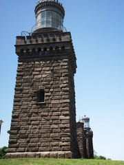 The view of the south Navesink Twin Lights looking