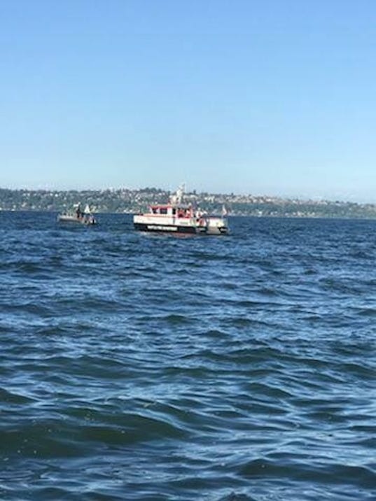 Coast Guard, local agencies search for missing man from plan crash off Bainbridge Island, Wash.