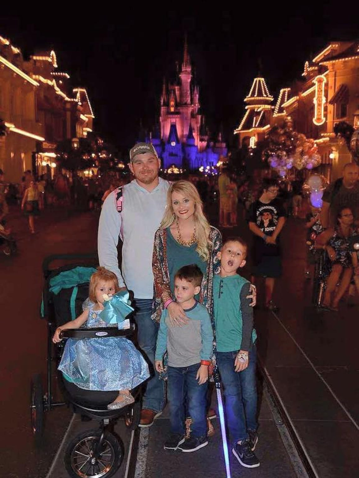 Megan and her family took a trip to Disney World shortly