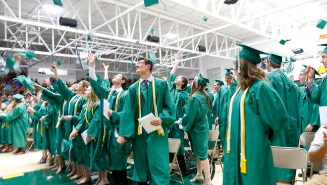 D.C. Everest Senior High School celebrates its sixty-fourth commencement ceremony Wednesday night, June 7, 2017, at the high school gymnasium in Weston.