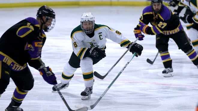 St. Norbert College senior captain Noah Nelson has four goals and five assists in 13 games.