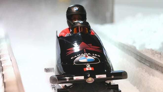 Canadian bobsledders Kaillie Humphreys and Phylicia George, who train in Phoenix, are favored to win a gold medal at the 2018 Winter Olympics.