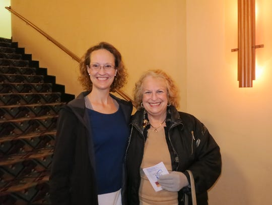 Sherry Haines (left) and Gera Unmack, both of Redding,