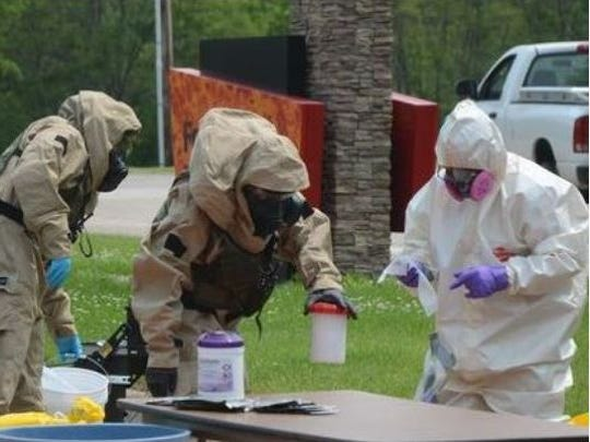 Anthrax scare  in June, 2015 bank robbery closed M-37 in Battle Creek for several hours