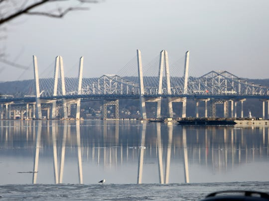 The Mario Cuomo and Tappan Zee bridges seen from Nyack