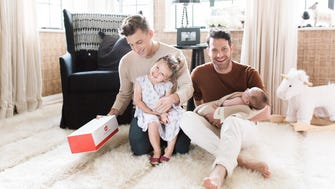 Nate Berkus and Jeremiah Brent open up about surrogacy and welcoming a second child, in an interview with All the Moms.