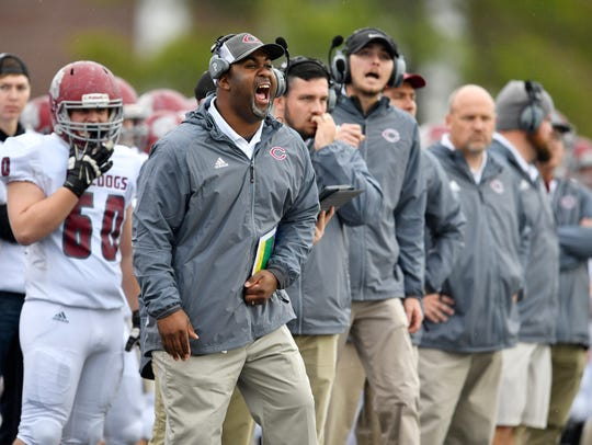 Cornersville coach Gerard Randolph yells to his team