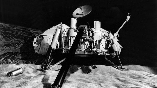 This undated photo shows NASA's Viking lander. Viking 1 was launched on Aug. 20, 1975 and arrived at Mars on June 19, 1976. Viking 2 was launched Sept. 9, 1975 and entered orbit on Aug. 7, 1976. The twin Vikings were the first successful landers on Mars from Earth.