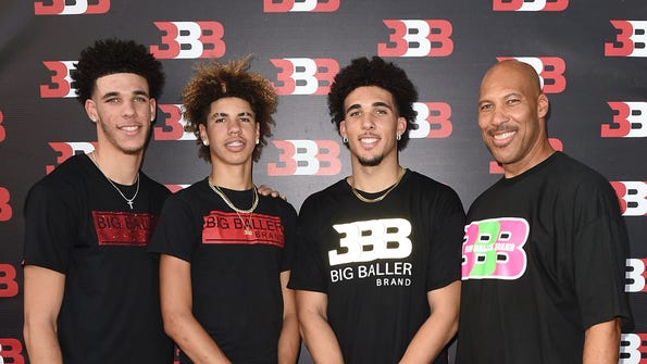 LaVar Ball has painting of his sons on the Lakers
