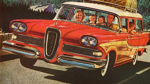 The Edsel was produced from 1958 through 1960 and is still regarded as one of the biggest failures in motorcar history. Sadly, Edsel Ford had nothing to do with the car he was named for as he had passed away in 1943.
