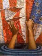 """""""American Nightmare,"""" by Stephanie Kiah. Kiah's work"""