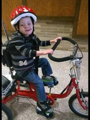 Money from a fundraiser will go toward buying this kind of bike Joey Butterfield is able to ride during school.