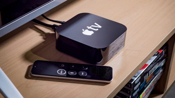 The Apple TV 4K with remote