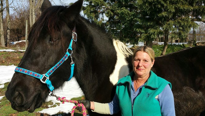 Susan Rotz is the new program director at the Franklin County 4-H Therapeutic Riding Center and Ruby Rose is the center's newest horse.