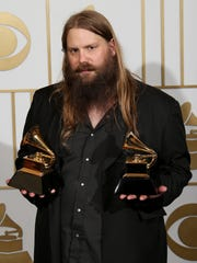 Chris Stapleton won Grammy Awards for best country album and best country solo performance in 2016 for 'Traveller.'