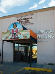 Entrance to La Academia Dolores Huerta's older location on N. Main Street, seen in 2016.