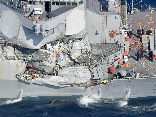 U.S. Navy Destroyer Collision Japan