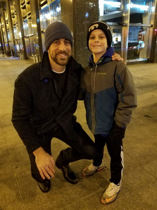 Aaron Rodgers and Peter Nicoll