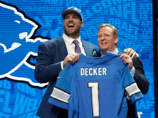 Ohio State''s Taylor Decker poses for photos with NFL