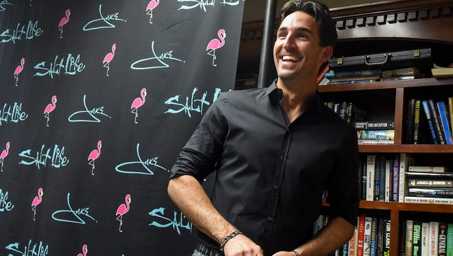 """Country music star and Vero Beach native Jake Owen smiles during """"An Evening with Jake"""" on Saturday, Dec. 9, 2017, at the annual Jake Owen Foundation Benefit at the Vero Beach Country Club."""