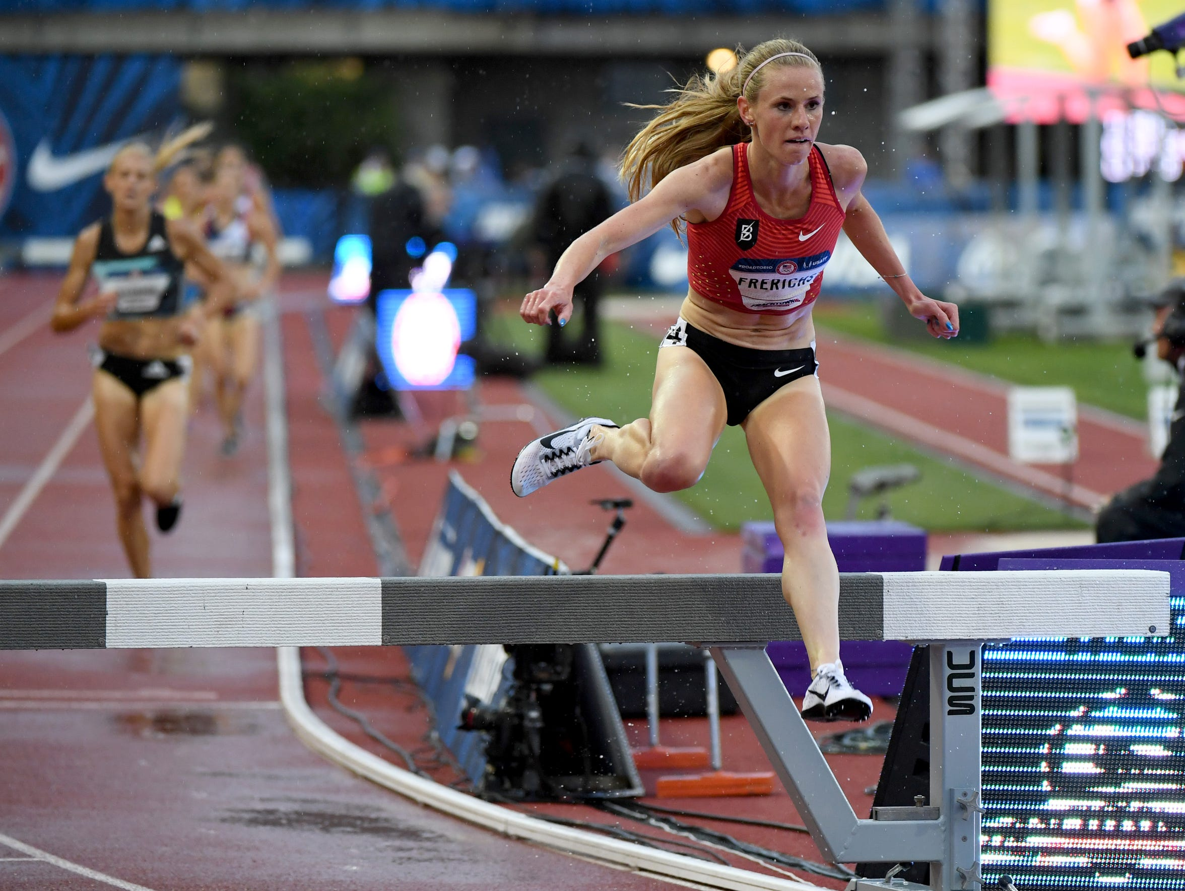 The steeplechase is an event that includes jumping