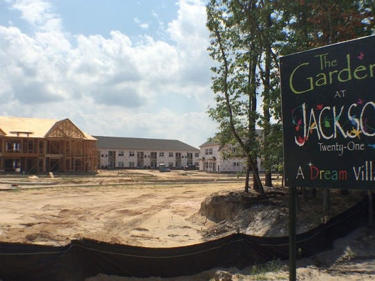 Construction continues on the Jackson 21 housing development in Jackson.