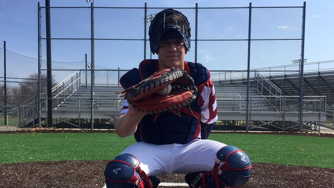 Eastern junior Dylan Stezzi is a left-handed throwing catcher. There hasn't been a lefty in the Majors since 1989.