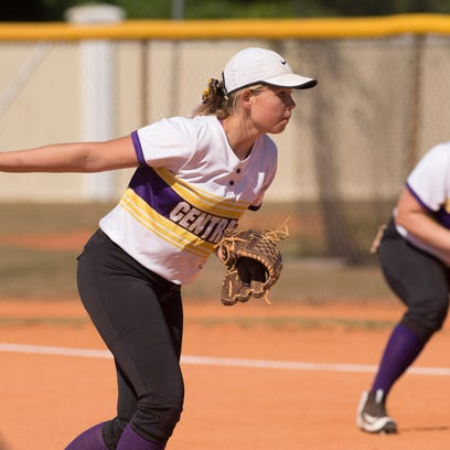Fort Pierce Central's pitcher Hope Johnson throws a