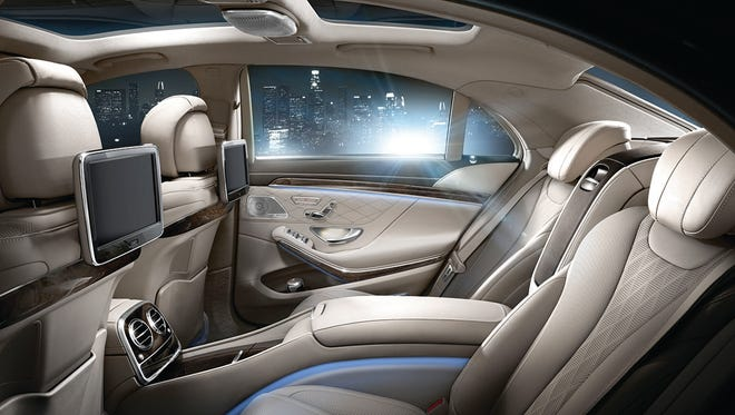 In the back seat of the S Class Mercedes-Benz, the seats can recline completely.