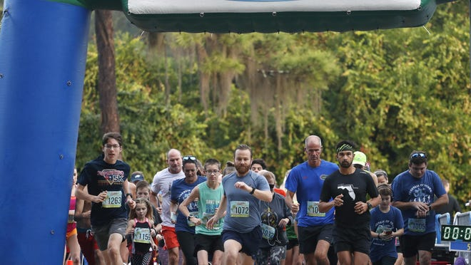 The start of the inaugural Skunk Ape Marathon at Gemini Springs in DeBary in 2019. Organizers hope to see this event get the green light in November.