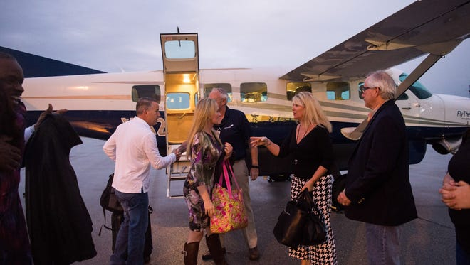 Fly the Whale, a New York-based commuter airline, makes its inaugural arrival at the Treasure Coast International Airport with passengers from Tallahassee on Friday, Jan. 12, 2018, in St. Lucie County.